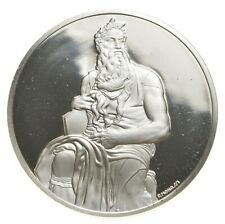 Sterling Silver - The Genius Of Michelangelo - 925 - 38 Grams Round/Art Bar *091