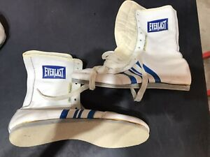 Vintage Everlast Mens White Leather Boxing Lace Up Boots Size 9 EX+
