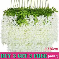 Artificial Hanging Wisteria Silk Flower Garland Home Wedding Garden Party Decor