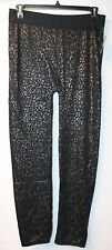 NEW WOMENS PLUS SIZE 2X 3X BROWN LEOPARD ANIMAL PRINT SEAMLESS LEGGING LEGGINGS