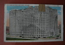 "AK / PK "" The American Furniture Mart, Chicago "" Damaged by canceling ..  1925"