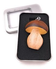 Schlüsselanhänger Holz Steinpilz Pilz Wald Dickröhrlinge Anhänger in Geschenkbox