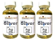 COLLOIDAL SILVER HIGH QUALITY 100% PURE 25+ PPM  3 BOTTLES