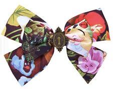 Disney Alice In Wonderland Flowers & Lock Cosplay Hair Bow Tie Hair Clip Nwt!