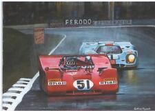 Jacky Ickx and Pedro Rodriguez art print