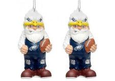 Philadelphia Eagles NFL Gnome Christmas Holiday Ornament (Set of 2)