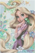 Disney's Princess Rapunzel and Pascal from Tangled X-Stitch Pattern CD Fantasy