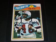 Patriots Tom Fox Auto Signed 1977 Topps Mexican RC #422