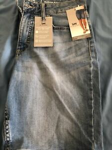 Women's Lee Riders Stretch Midrise Bermuda Denim Shorts Size 10 M
