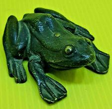 Jolie ancienne grenouille en bronze