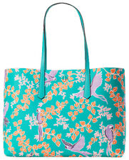 kate spade new york Molly Bird Party Large Women's Tote Bag - Green Multi