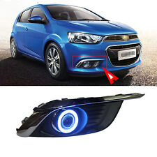 New COB Angel Eyes Projector Lens Fog Lights Lamp Exactly for Chevrolet Aveo