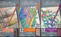 Brevillier's Cretacolor 12 piece Classic Colored Pencils KARMINA NEW