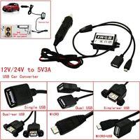 Buck Converter 12V/24V to 5V3A Cigarette Lighter To USB Car Power Adapter