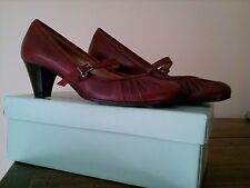 Chaussures mocassins femme SALAMANDER en 39 Bordeaux rouge mary jane shoes NEUF