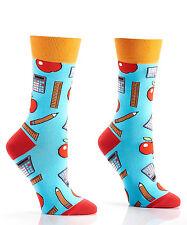 Yo Sox Women's Crew Socks  Teacher Design   Fits Sizes 6-10