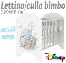 LETTINO CULLA BIMBO 120X60 CM!NUOVA COLLEZIONE DISNEY2016 DUMBO