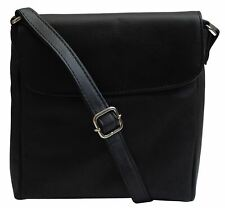 Crossbody Bag Leather Black Women's Purse Handbag Ladies Shoulder Bag
