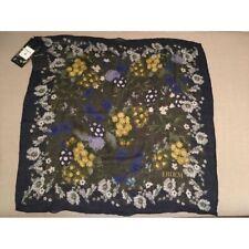 ERDEM X H&M Green Khaki Floral Wool-Silk Scarf