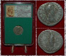 Ancient Roman Empire Coin Of COMMODUS Emperor Altar On Reverse Silver Denarius