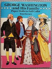 George Washington and His Family Paper Dolls Book In Full Color Uncut~Nice! 1989