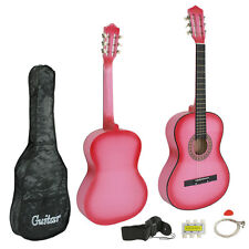Pink Acoustic Guitar Best 2016 Design W/ Guitar Case, Strap, Tuner New