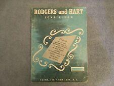 Rodgers and Hart Song Album Songbook Piano Guitar Lyrics Chord symbols 1946