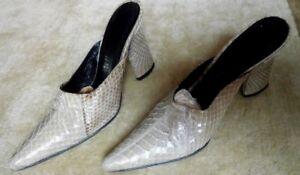 made in Italy, designer, Iacopini Crocodile Skin Shoes 37  slip on   $400.00+