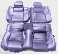 2010-2014 Mustang GT500 Black Leather REAR Only Seat Covers OEM Take Off's