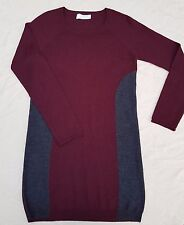 Grace merino wool tunic top - Red & grey - Size 2 - Great condition