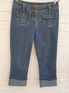 I.N.C International Concepts Jeans Roll Cuffed Cropped Size 10 Womens W33 JE354
