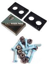 "Cal 7 1.25"" Hardware Light Blue + 1/4"" Riser Pads"