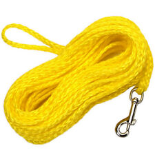 "Remington R3825-G-YEL25 Hollow Poly Braided Dog Check Cord, 1/4"" x 25', Yellow"