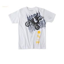 Metal Mulisha Youth Boys Jumper Tee S/S T-Shirt White Large