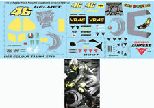 1/12 VALENTINO ROSSI TEST FIGURE VALENCIA 2012 YAMAHA M1 DECALS TB DECAL TBD149