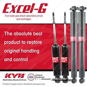 Front + Rear KYB EXCEL-G Shock Absorbers for HOLDEN Utility HJ HQ HX HZ WB RWD