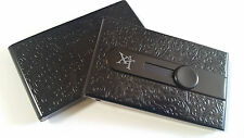 Black Automatic Business Card Holder