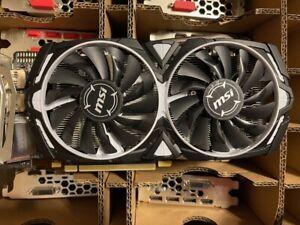 MSI Radeon RX470 Armor 4G GPU AMD GDDR5 Graphics Card 4GB Mining