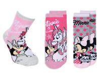3 Paar Minnie Mädchen Terry ABS Socken | Kinder Winter Stoppersocken Gr. 27-30