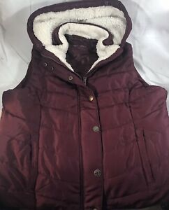 Details about  /NWT Aeropostale Women's Quilted Puffer Puffy Vest  Size Large Navy Blue