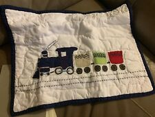 Pottery Barn Kids Baby Backseat Driver Quilted Crib Nursery Pillow Sham Train