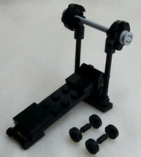 NEW LEGO BENCH PRESS and BARBELL SET minifigure scale gym equipment dumbells