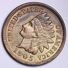 1905 Indian Head Cent Penny CHOICE UNC FREE SHIPPING E156 NM