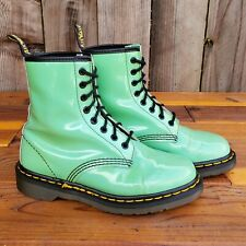 💥Dr. Martens Doc England Rare Vintage Mint Green Patent 1460 Boots UK4 US6💥