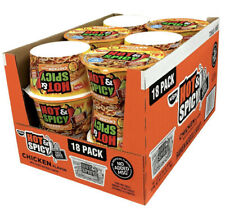 Nissin Ramen Bowl Hot & Spicy Chicken 3 Oz (18 - Pack) Instant Noodles