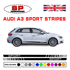 Audi A3 Sport Side Stripes Vinyl Decals Exterior Styling Graphics Racing 003