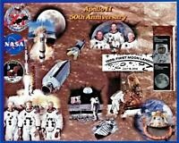 Apollo 11 50th Anniversary 8x10  Glossy Paper Collage Both Stamps