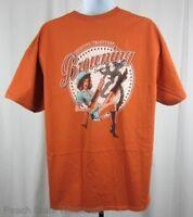 Mens NWT Browning Old School Buckmark T-Shirt Girl Shotgun Texas Orange Any Size