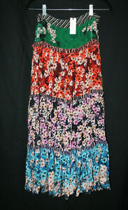 Anthropologie Bhanuni by Jyoti Anarosa Tiered Maxi Floral Skirt Sz 0 NWT