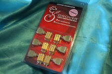 Grover Vintage 135 Series Tuners, Gold, Vintage Style Plastic Crown Buttons,135G